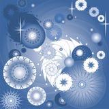 抽象背景蓝色黑暗的星形 库存照片