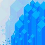 抽象背景蓝色水晶有在灰色背景的金刚石 免版税库存照片