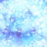 抽象背景蓝色bokeh光向量 库存例证