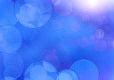 抽象背景蓝色bokeh光向量 向量例证
