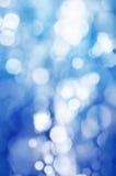 抽象背景蓝色bokeh光 免版税图库摄影