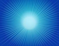 抽象背景蓝色starburst 免版税库存照片
