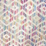 抽象背景被编织的地毯纹理绘了水彩例证 向量例证