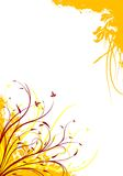 抽象背景装饰花卉grunge例证向量 库存图片