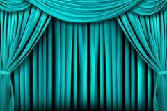 抽象背景装饰阶段深青色剧院 免版税库存图片