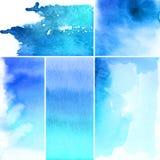 抽象背景设置了水彩 图库摄影
