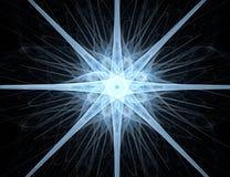 抽象背景设计分数维星形 库存照片