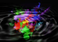 抽象背景起了波纹 图库摄影