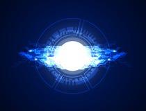 抽象背景辐形旋转和光圈效应从白色圈子 库存照片
