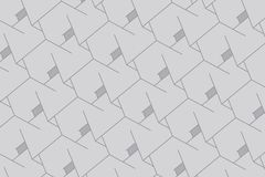 抽象背景配件箱 与方形的滤网的现代技术 几何线路 立方体细胞 库存例证