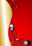 抽象背景金子红色 免版税库存照片
