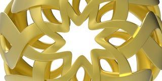 抽象背景金黄星形 免版税库存图片