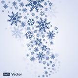抽象背景雪向量 免版税库存照片