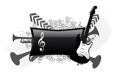抽象背景音乐会 向量例证
