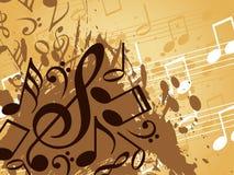 抽象背景音乐会 皇族释放例证