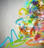 抽象背景音乐 图库摄影