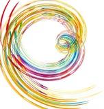 抽象背景颜色丝带 库存例证