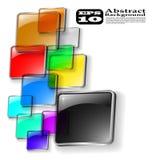 抽象背景颜色向量 免版税库存照片