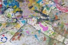 抽象背景颜色设计调色板 免版税库存图片