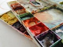 抽象背景颜色设计调色板 免版税库存照片