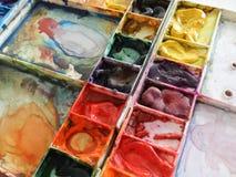 抽象背景颜色设计调色板 图库摄影