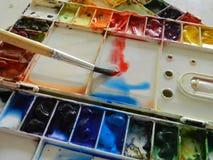 抽象背景颜色设计调色板 免版税图库摄影