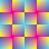 抽象背景马赛克无缝的正方形 库存图片