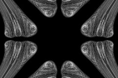 抽象背景骨头X-射线 库存图片