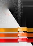 抽象背景黑色几何橙红 免版税库存照片