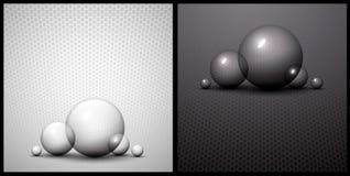 抽象背景黑色泡影白色 免版税图库摄影