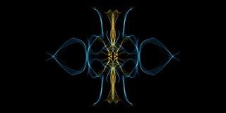 抽象背景,光亮打旋 典雅的发光的圈子 轻的圆环 引发微粒 E 免版税图库摄影
