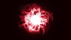 抽象背景,红色能量无缝loopable 皇族释放例证