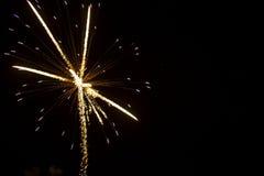 抽象背景:烟花闪耀与光导纤维的光 库存图片