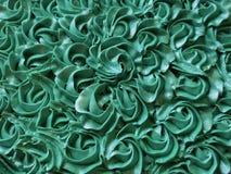 抽象背景:蒂凡尼蓝色玫瑰华饰蛋糕结冰 免版税库存图片