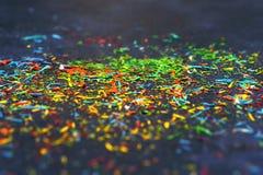 抽象背景:颜色铅笔削片 库存图片