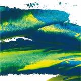 抽象背景 与粗胶边的画笔冲程 颜色刷子例证 库存图片