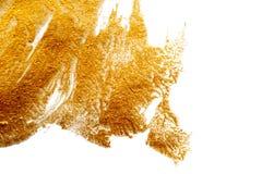 抽象背景绘与金油漆刷子  免版税库存图片