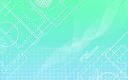 抽象背景 任意空白线路和形状 几何的背景 时髦梯度背景 圈子和波浪 皇族释放例证