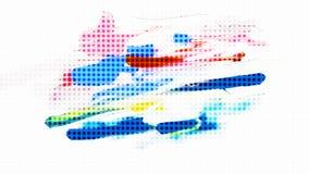 抽象背景 光点图形 免版税库存照片