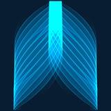 抽象背景 在深蓝背景的明亮的蓝线 库存图片