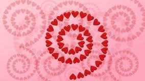 抽象背景-心脏形状螺旋 3d翻译 库存例证