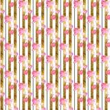 抽象背景-无缝的样式墙纸 库存例证