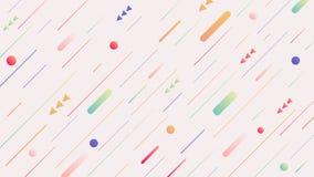 抽象背景 最小的几何设计 动态形状构成 免版税库存照片