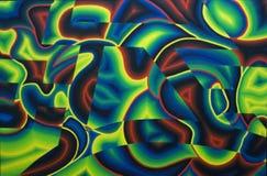抽象背景-油漆细节André Cadere 免版税库存照片