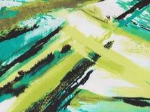 抽象背景绿色和黄色 免版税库存照片