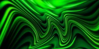 抽象背景绿色波浪 向量例证