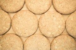 抽象背景-酥脆全麦的谷物曲奇饼 库存照片