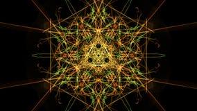 抽象背景-霓虹灯星 向量例证