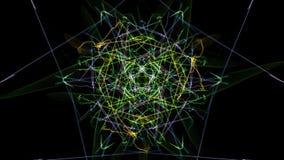 抽象背景-霓虹灯星 皇族释放例证