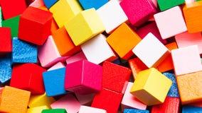 抽象背景 颜色立方体特写镜头 库存图片